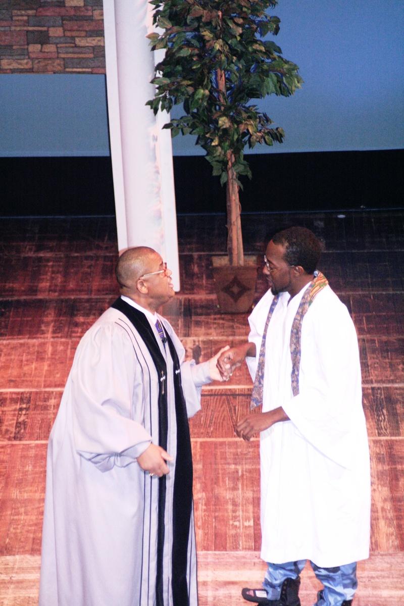 Pastor Waller and son, Thomas.